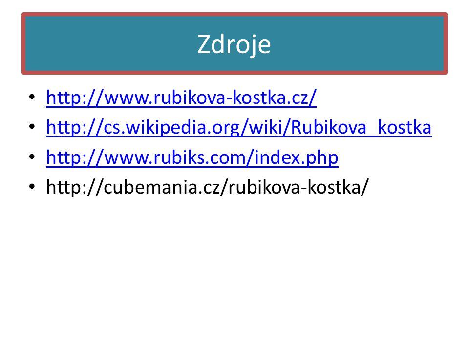 Zdroje http://www.rubikova-kostka.cz/