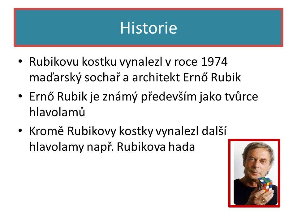 Historie Rubikovu kostku vynalezl v roce 1974 maďarský sochař a architekt Ernő Rubik. Ernő Rubik je známý především jako tvůrce hlavolamů.