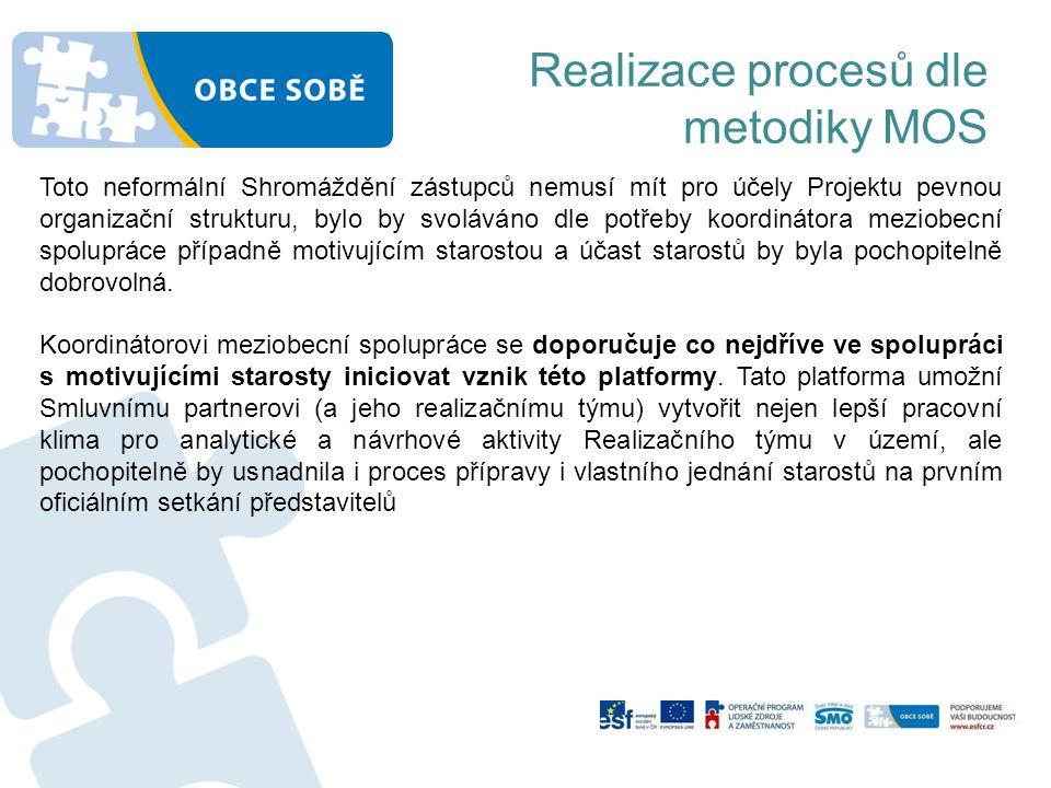 Realizace procesů dle metodiky MOS