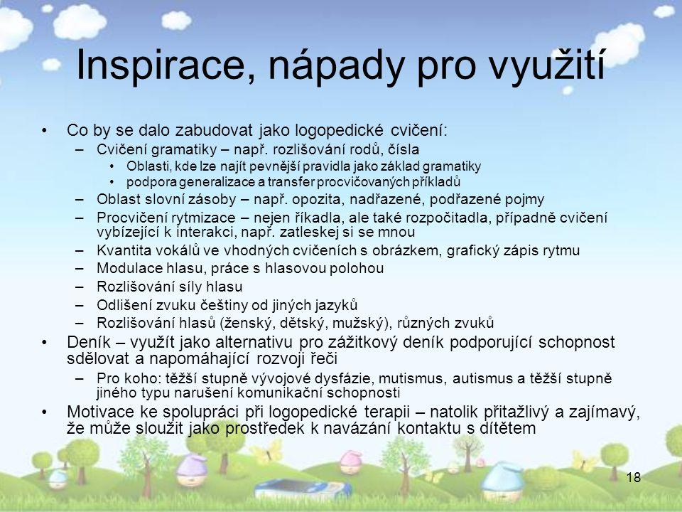Inspirace, nápady pro využití