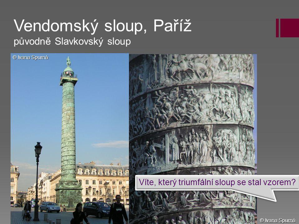 Vendomský sloup, Paříž původně Slavkovský sloup