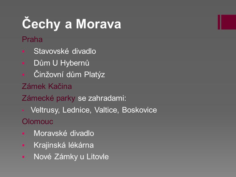 Čechy a Morava Praha Stavovské divadlo Dům U Hybernů