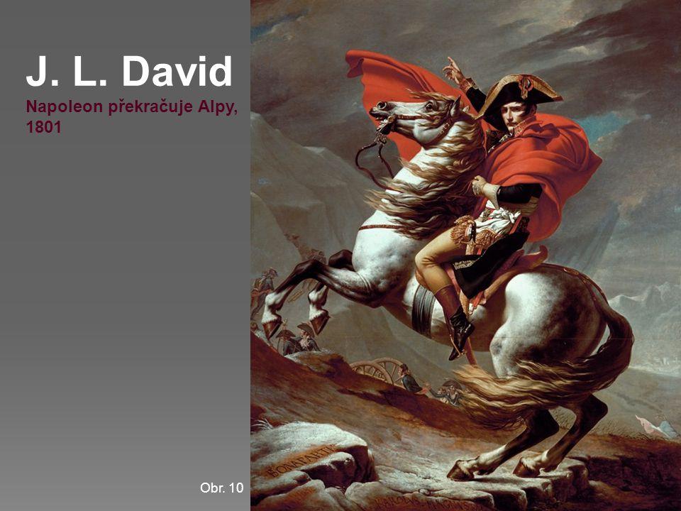 J. L. David Napoleon překračuje Alpy, 1801