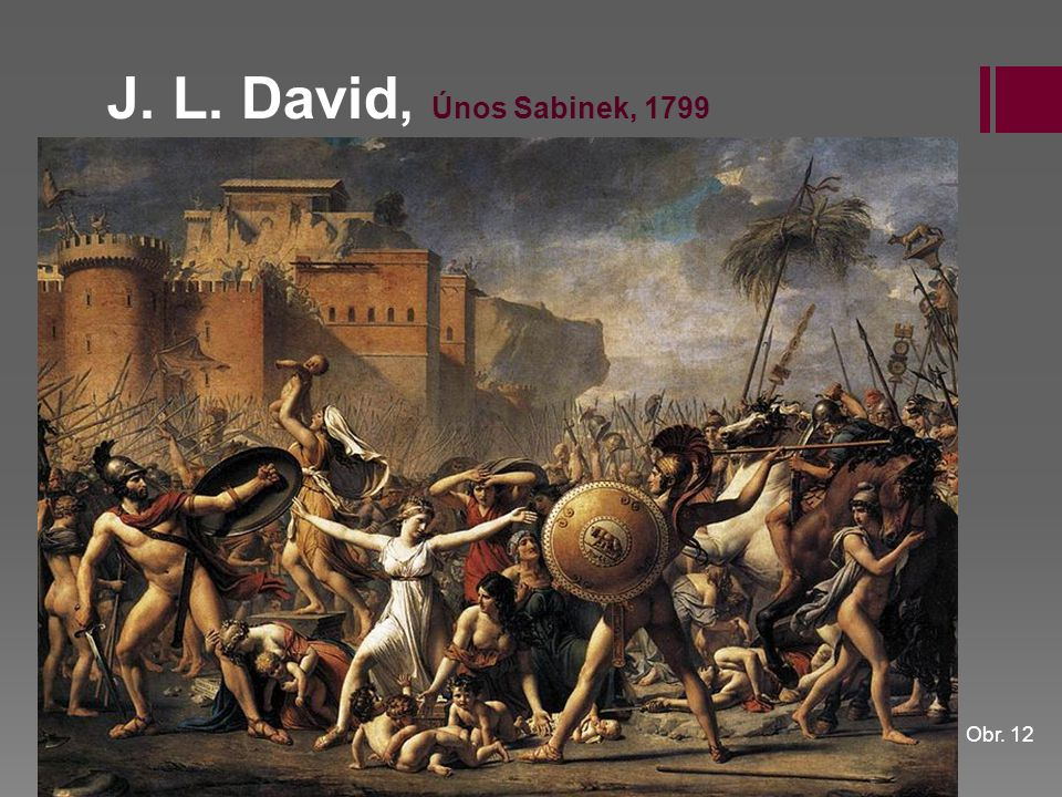 J. L. David, Únos Sabinek, 1799 Obr. 12
