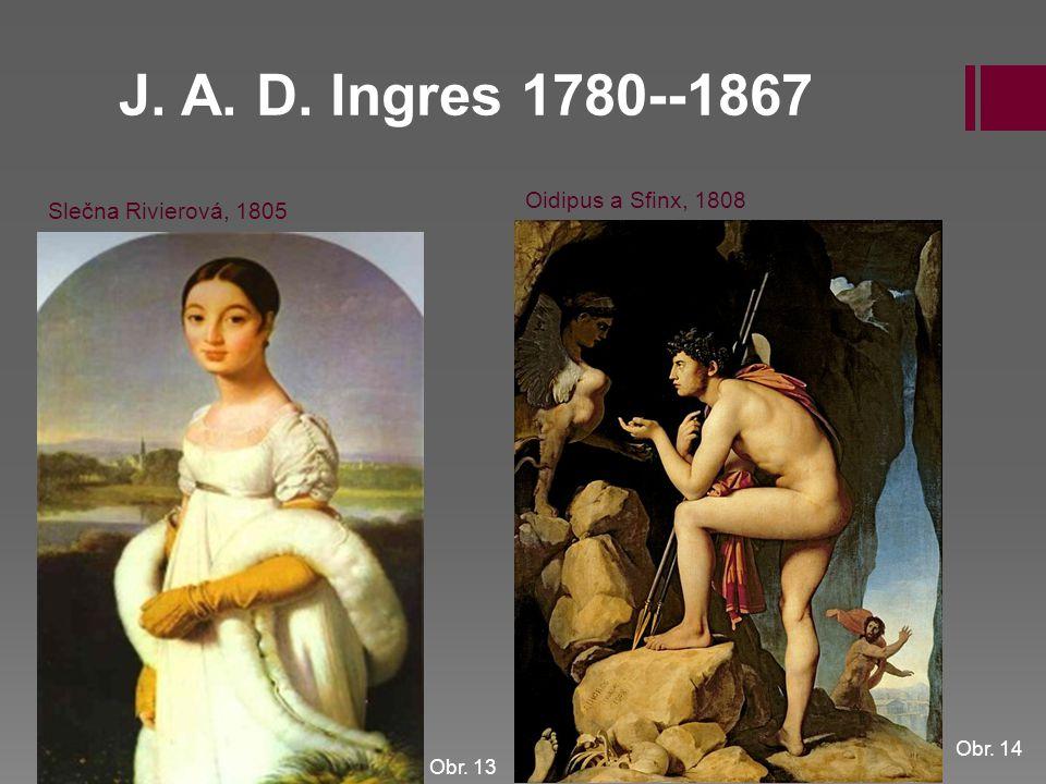 J. A. D. Ingres 1780--1867 Oidipus a Sfinx, 1808