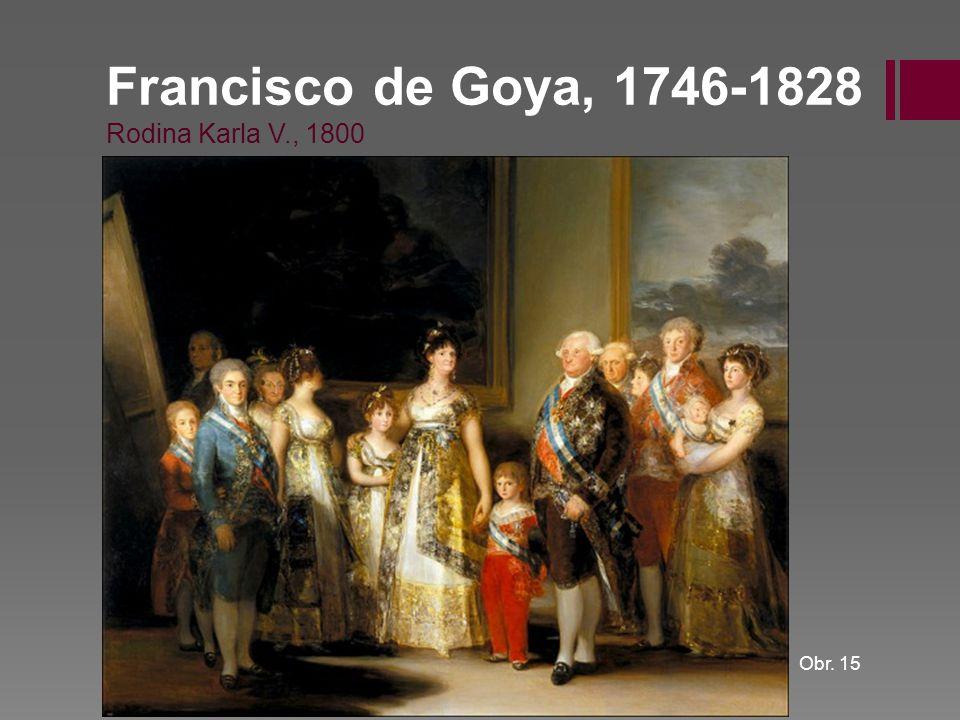 Francisco de Goya, 1746-1828 Rodina Karla V., 1800
