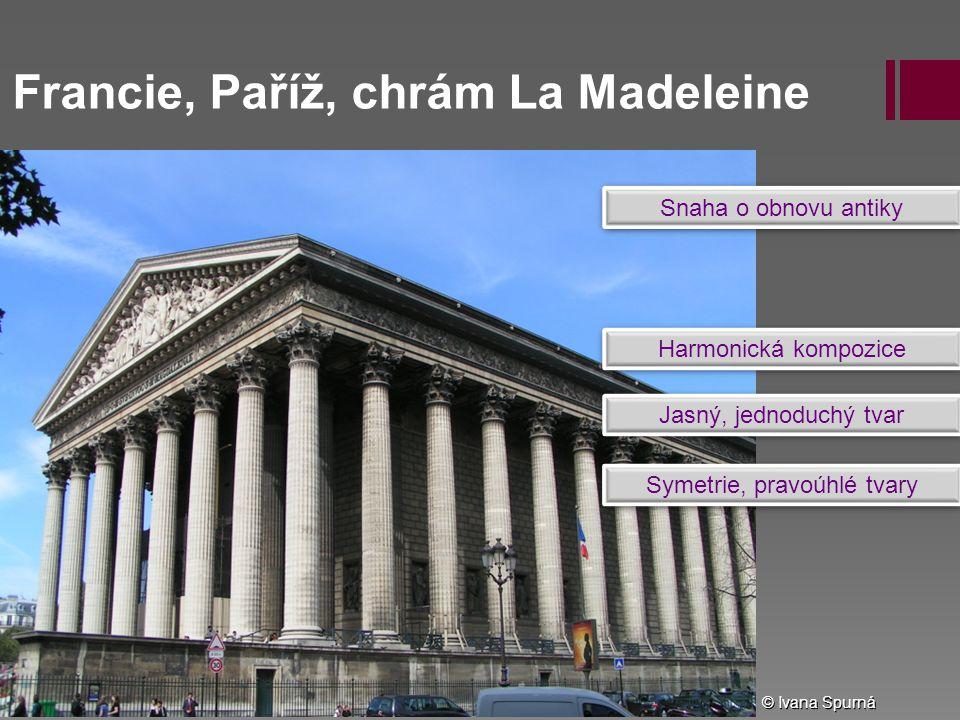 Francie, Paříž, chrám La Madeleine