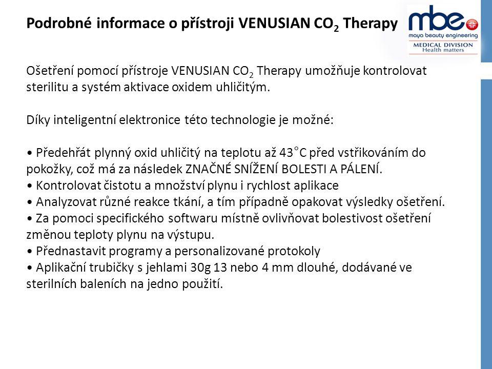 Podrobné informace o přístroji VENUSIAN CO2 Therapy