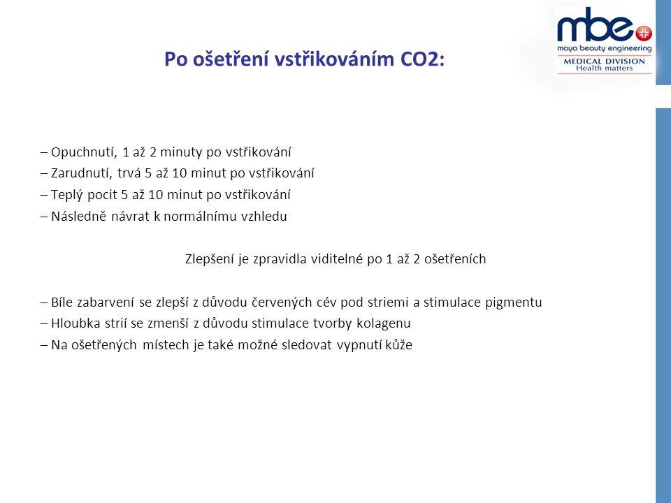 Po ošetření vstřikováním CO2: