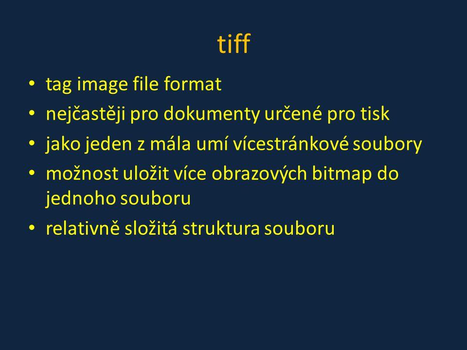 tiff tag image file format nejčastěji pro dokumenty určené pro tisk