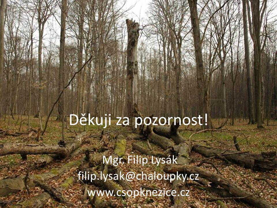 Mgr. Filip Lysák filip.lysak@chaloupky.cz www.csopknezice.cz