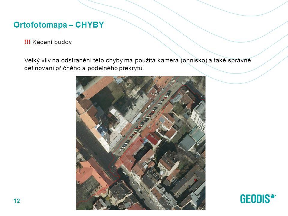 Ortofotomapa – CHYBY