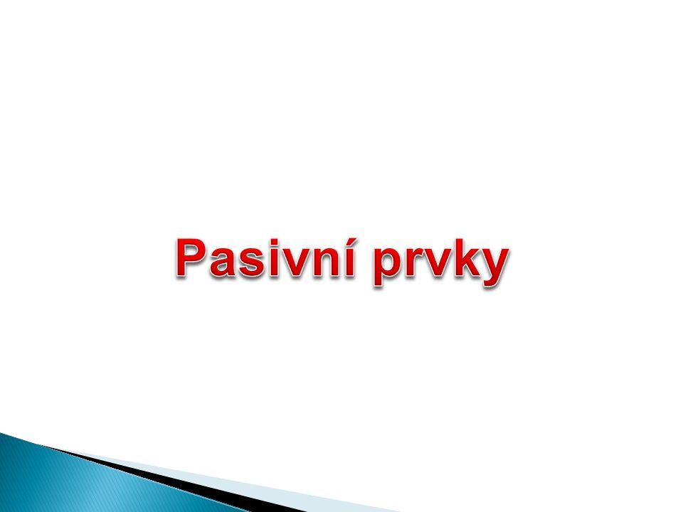 Pasivní prvky