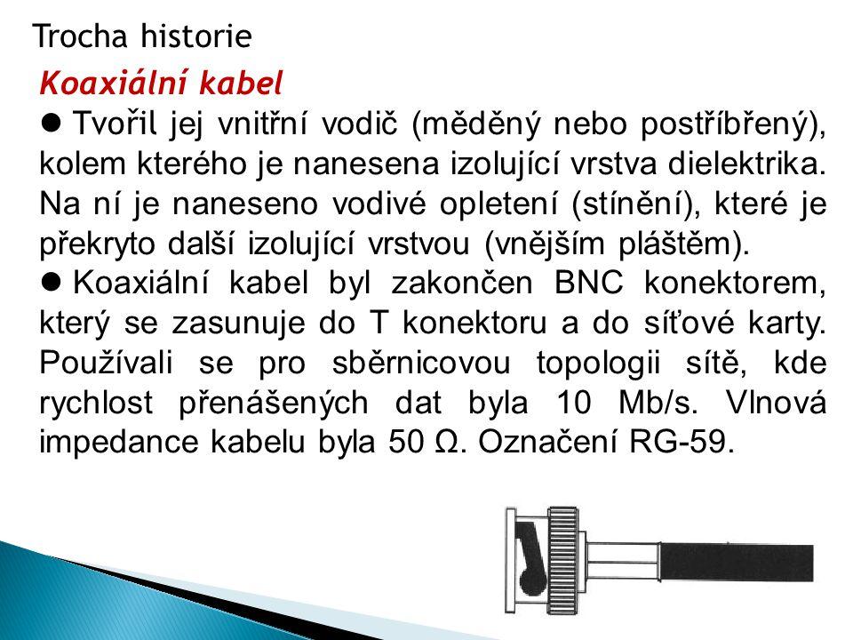 Trocha historie Koaxiální kabel.