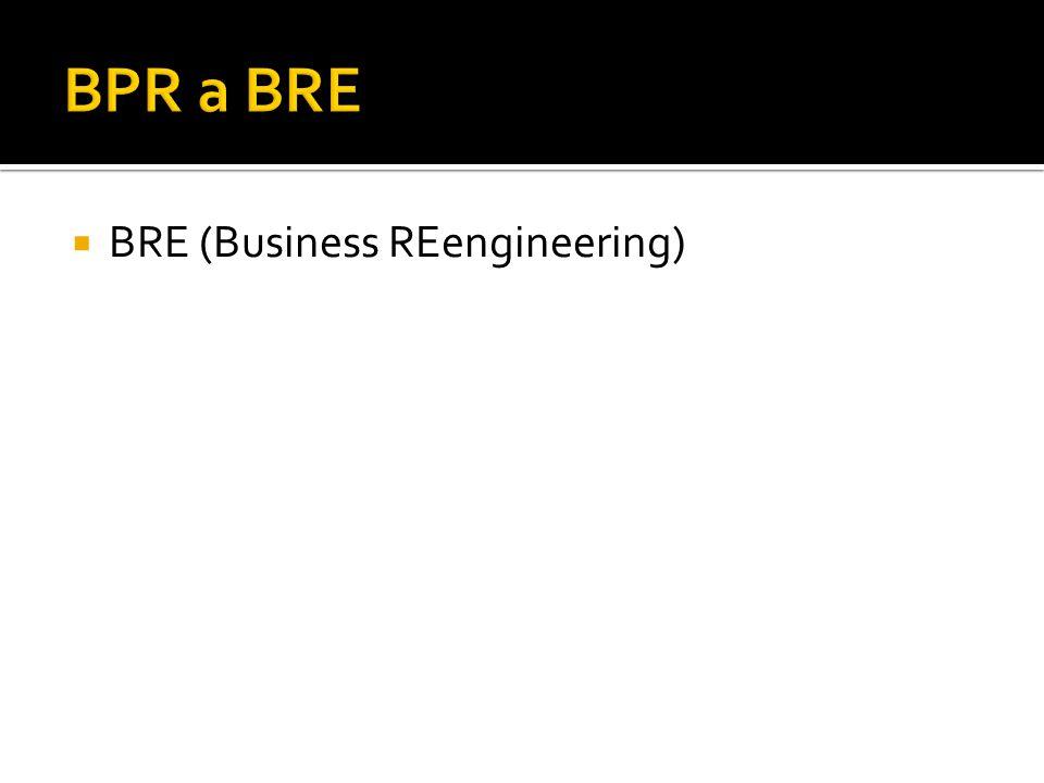 BPR a BRE BRE (Business REengineering)