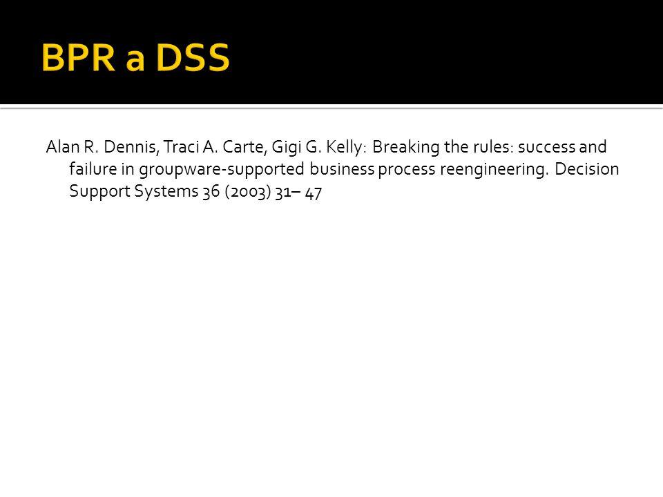 BPR a DSS