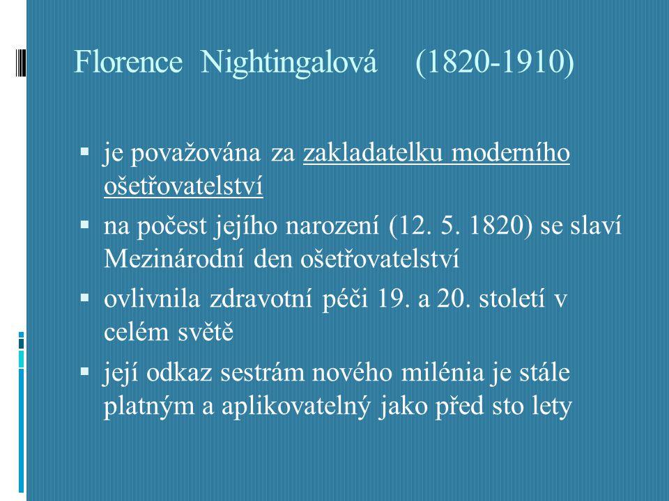 Florence Nightingalová (1820-1910)