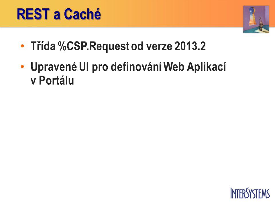 REST a Caché Třída %CSP.Request od verze 2013.2