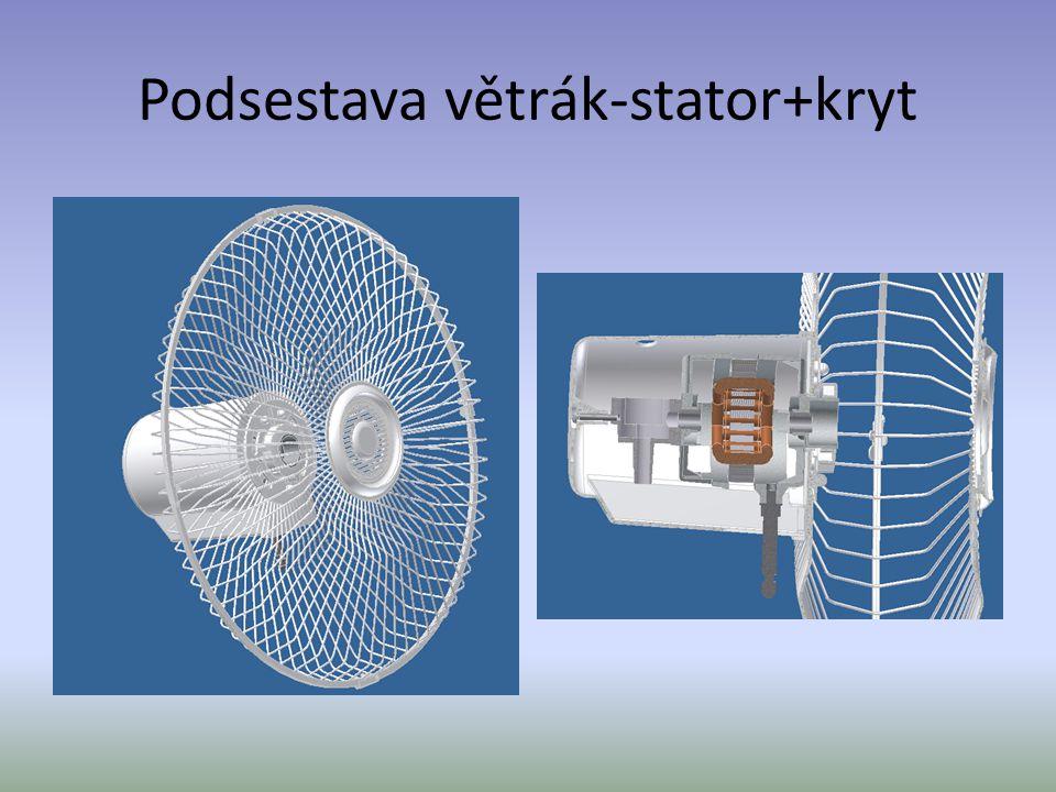 Podsestava větrák-stator+kryt