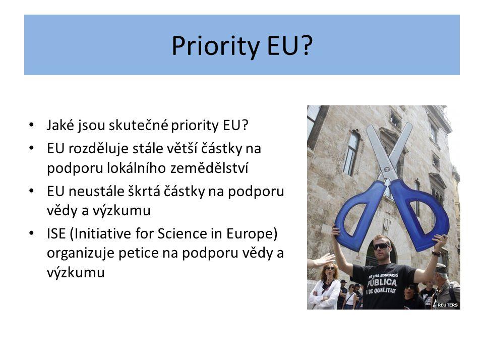 Priority EU Jaké jsou skutečné priority EU