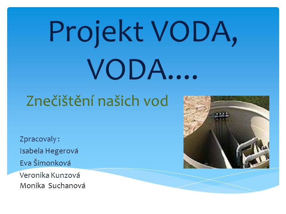 Projekt VODA, VODA.... Znečištění našich vod Zpracovaly :
