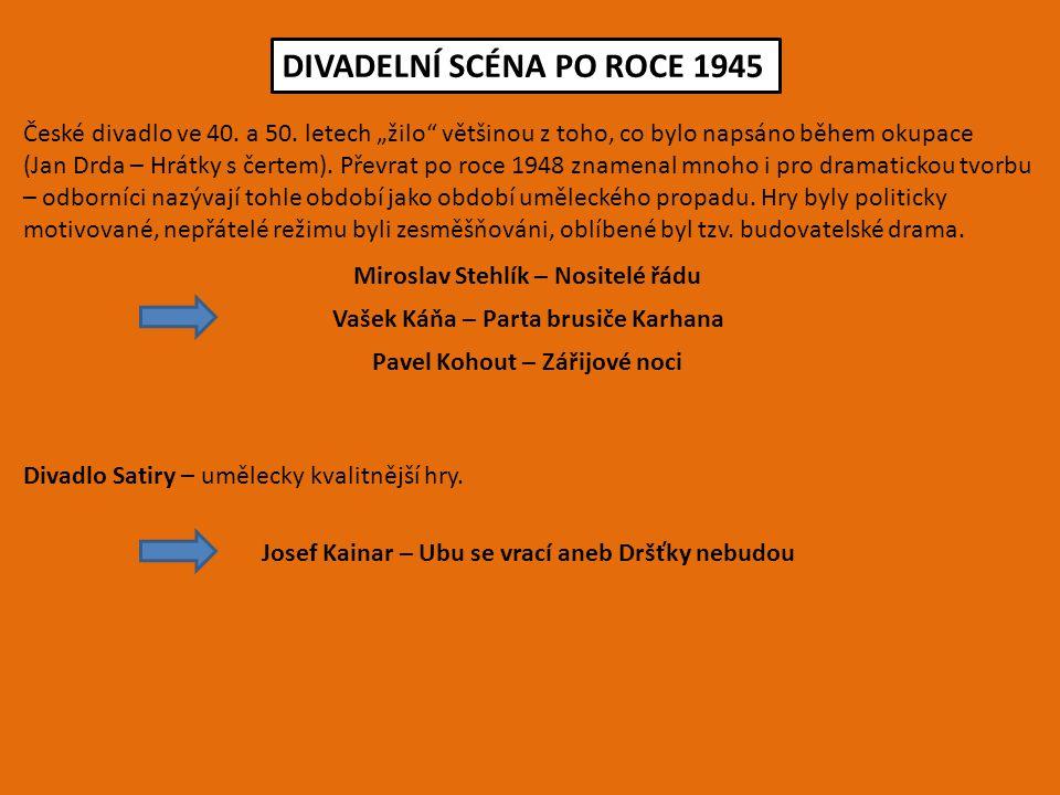 DIVADELNÍ SCÉNA PO ROCE 1945