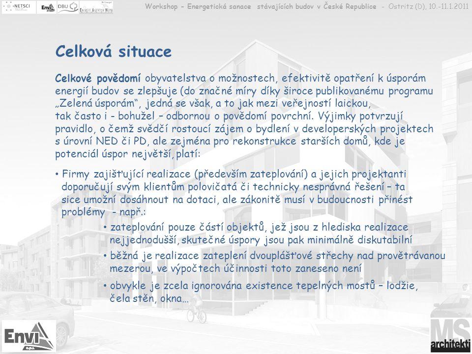 Workshop - Energetická sanace stávajících budov v České Republice - Ostritz (D), 10.-11.1.2011
