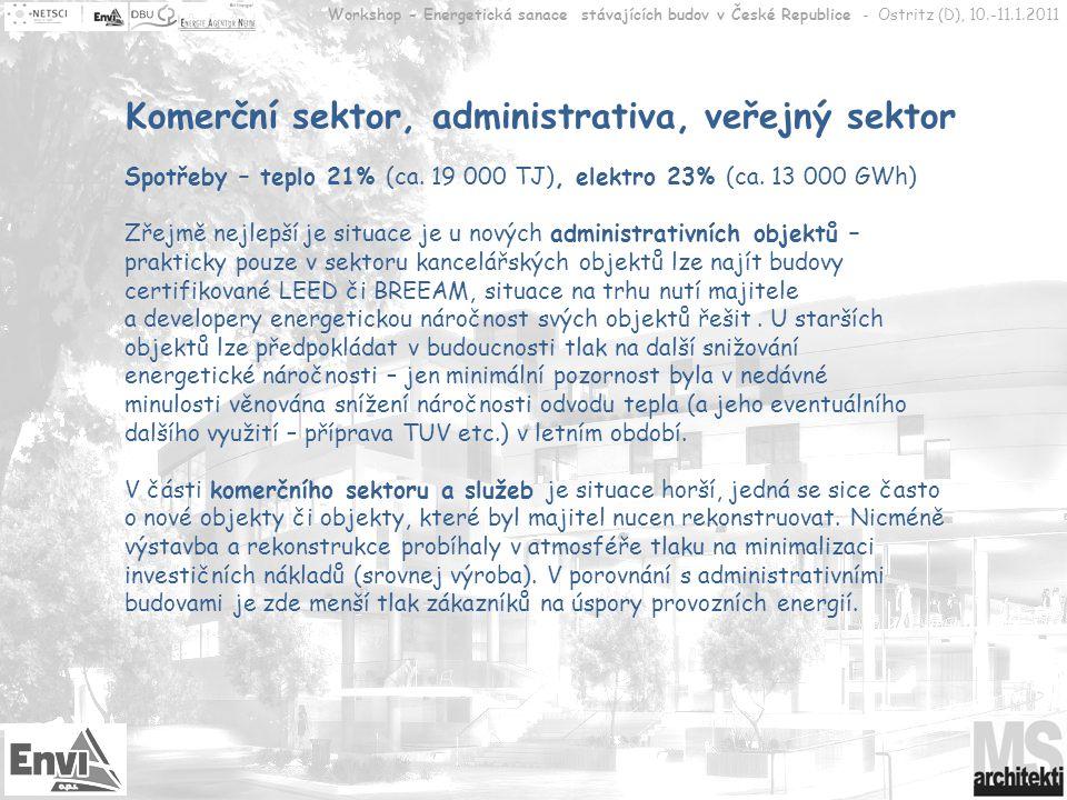Komerční sektor, administrativa, veřejný sektor