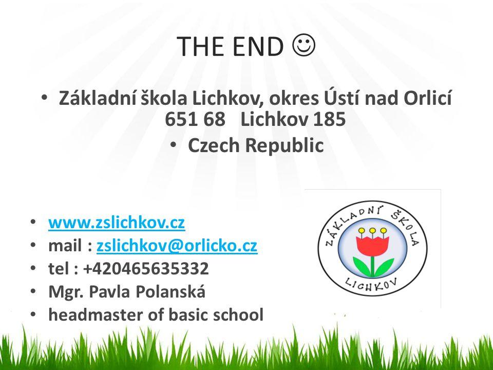 Základní škola Lichkov, okres Ústí nad Orlicí 651 68 Lichkov 185
