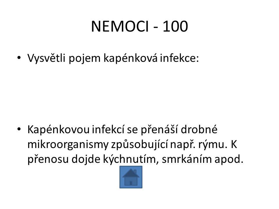 NEMOCI - 100 Vysvětli pojem kapénková infekce: