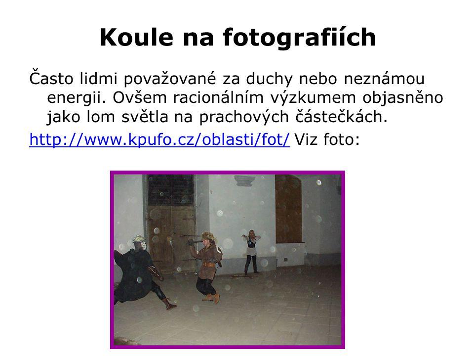 Koule na fotografiích