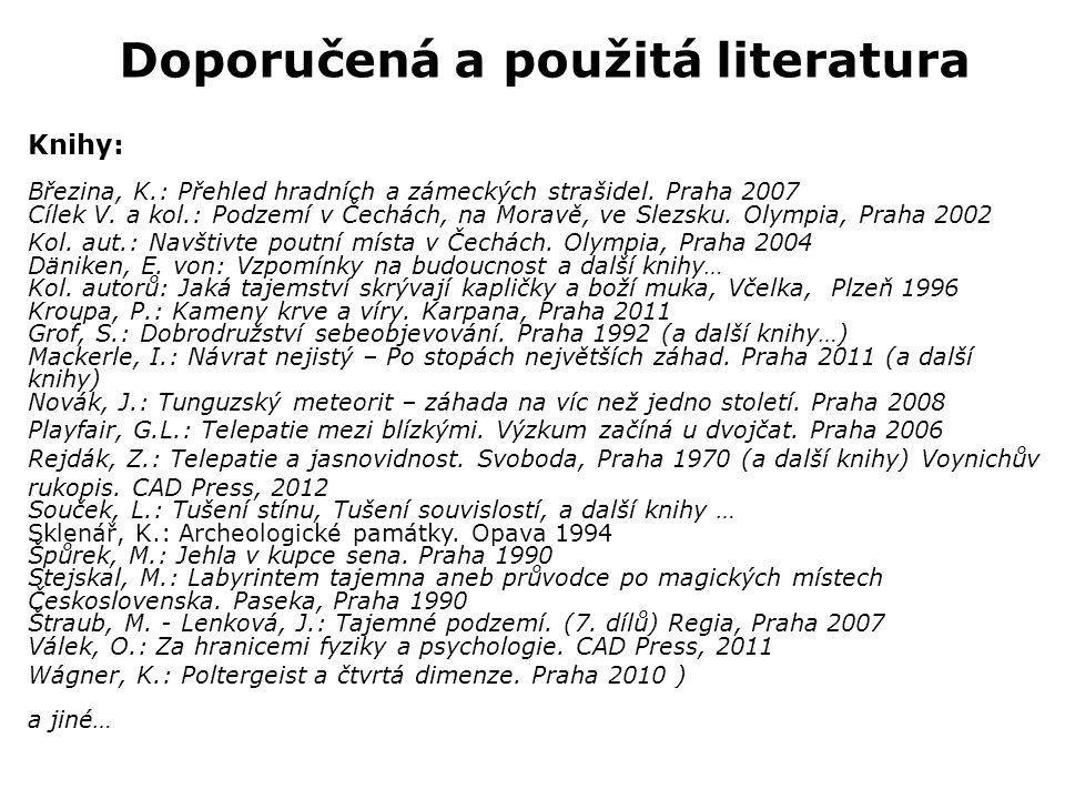 Doporučená a použitá literatura