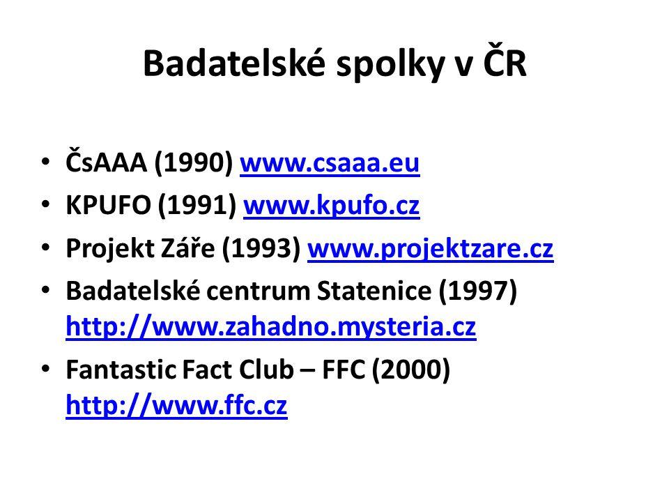 Badatelské spolky v ČR ČsAAA (1990) www.csaaa.eu