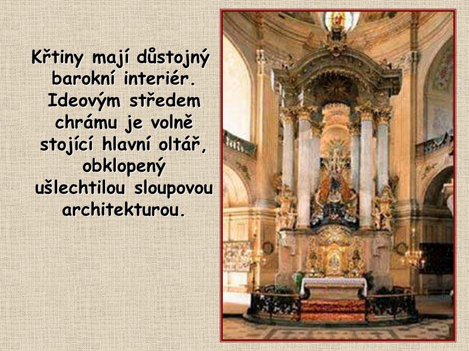Křtiny mají důstojný barokní interiér