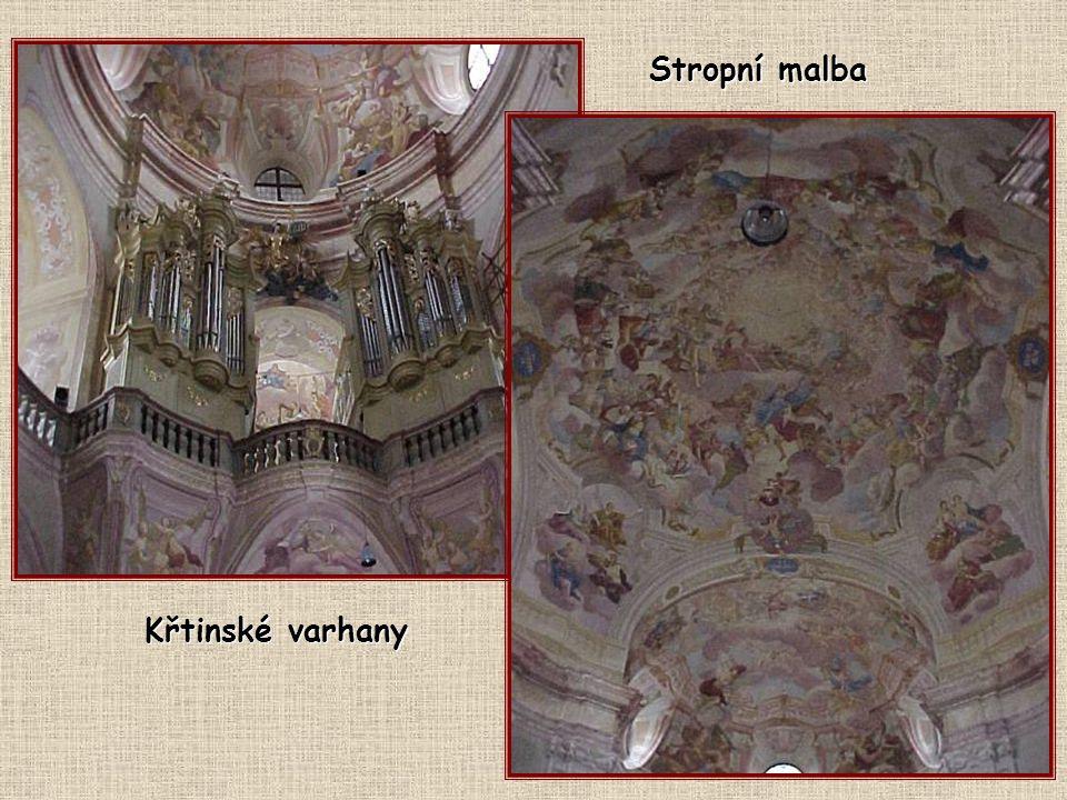 Stropní malba Křtinské varhany