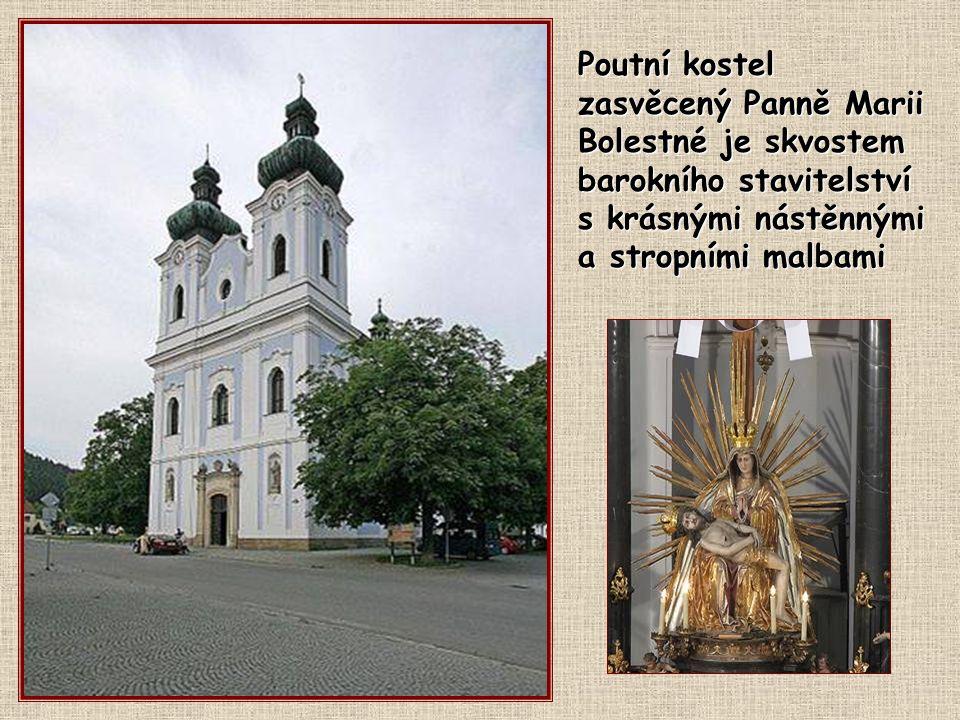 Poutní kostel zasvěcený Panně Marii Bolestné je skvostem barokního stavitelství