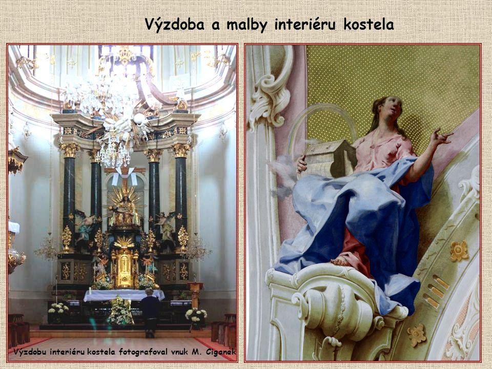 Výzdoba a malby interiéru kostela