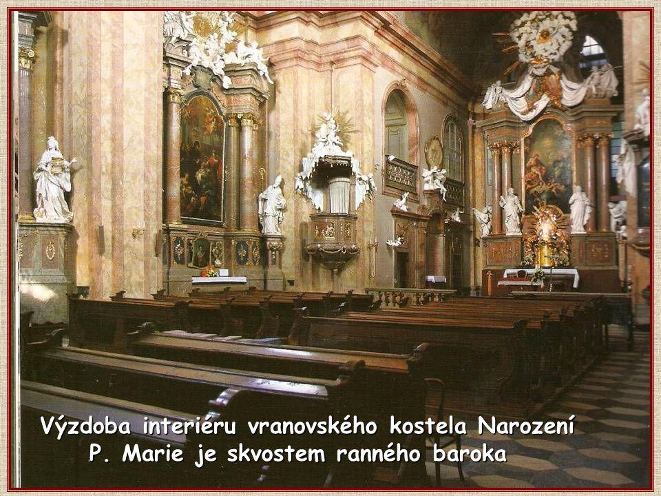 Výzdoba interiéru vranovského kostela Narození P