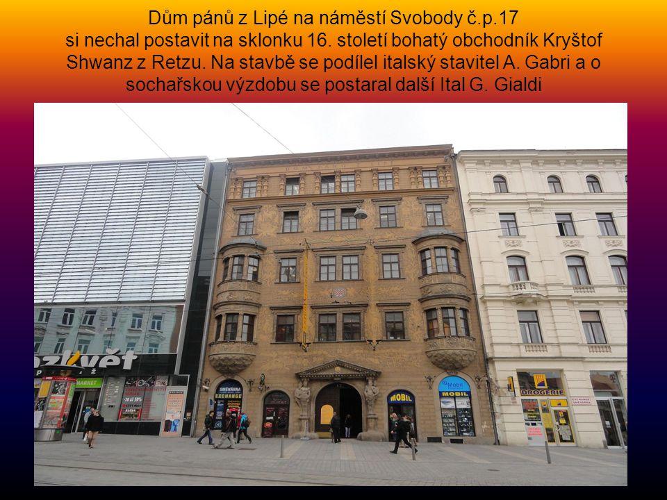 Dům pánů z Lipé na náměstí Svobody č. p