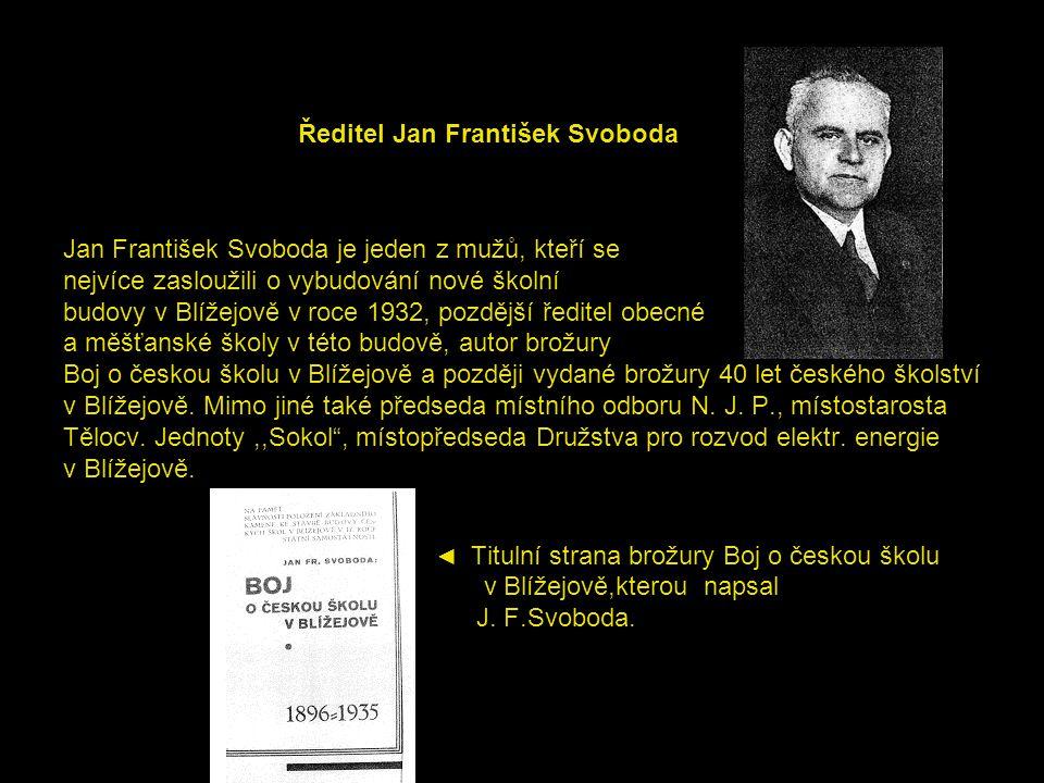 Ředitel Jan František Svoboda