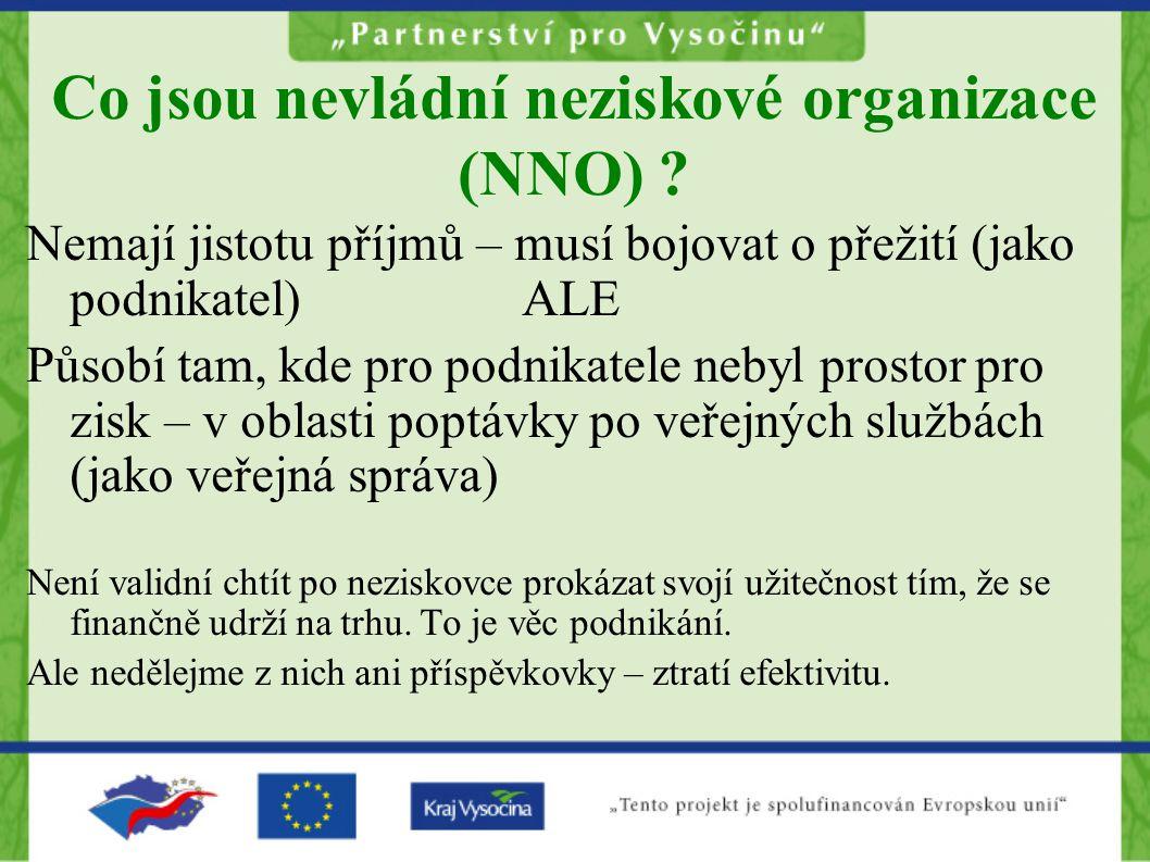 Co jsou nevládní neziskové organizace (NNO)