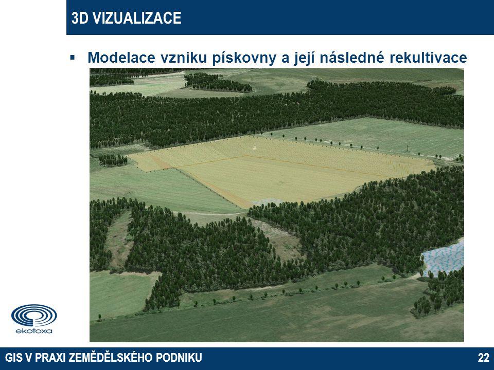 3D VIZUALIZACE Modelace vzniku pískovny a její následné rekultivace