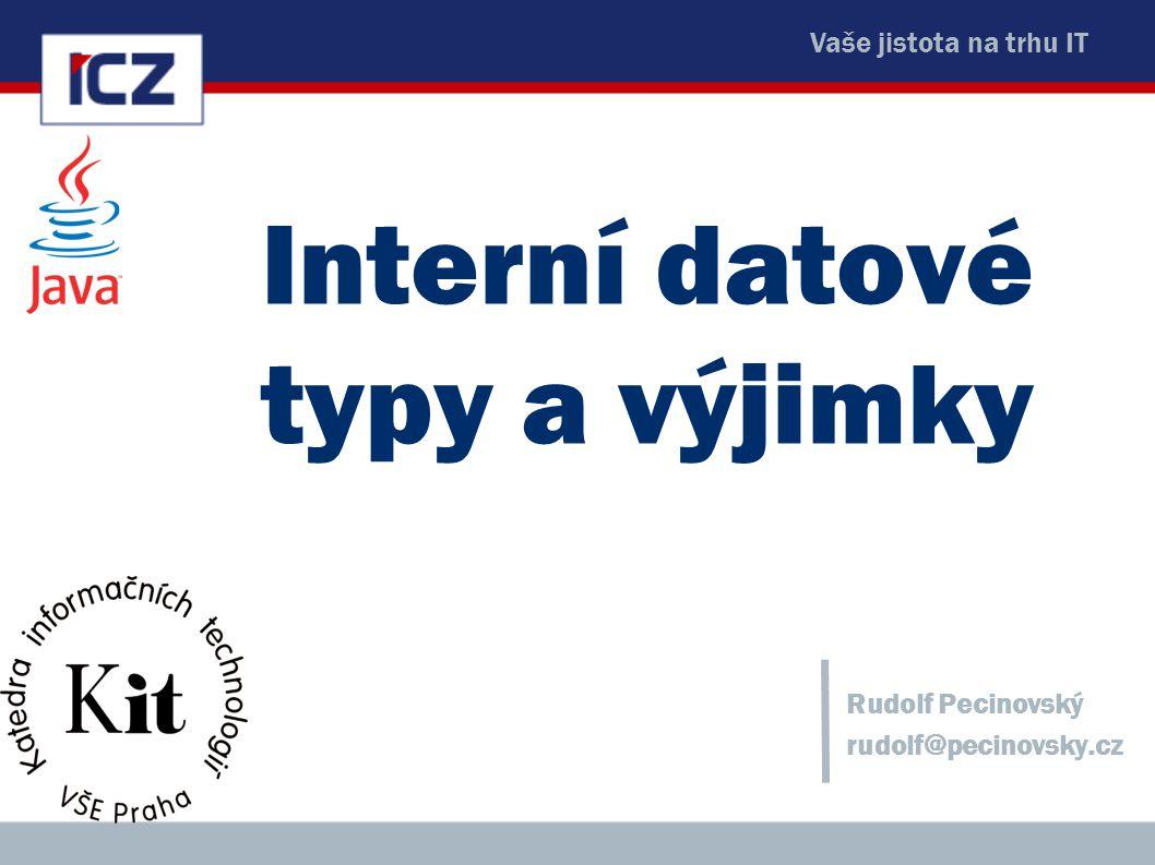 Interní datové typy a výjimky