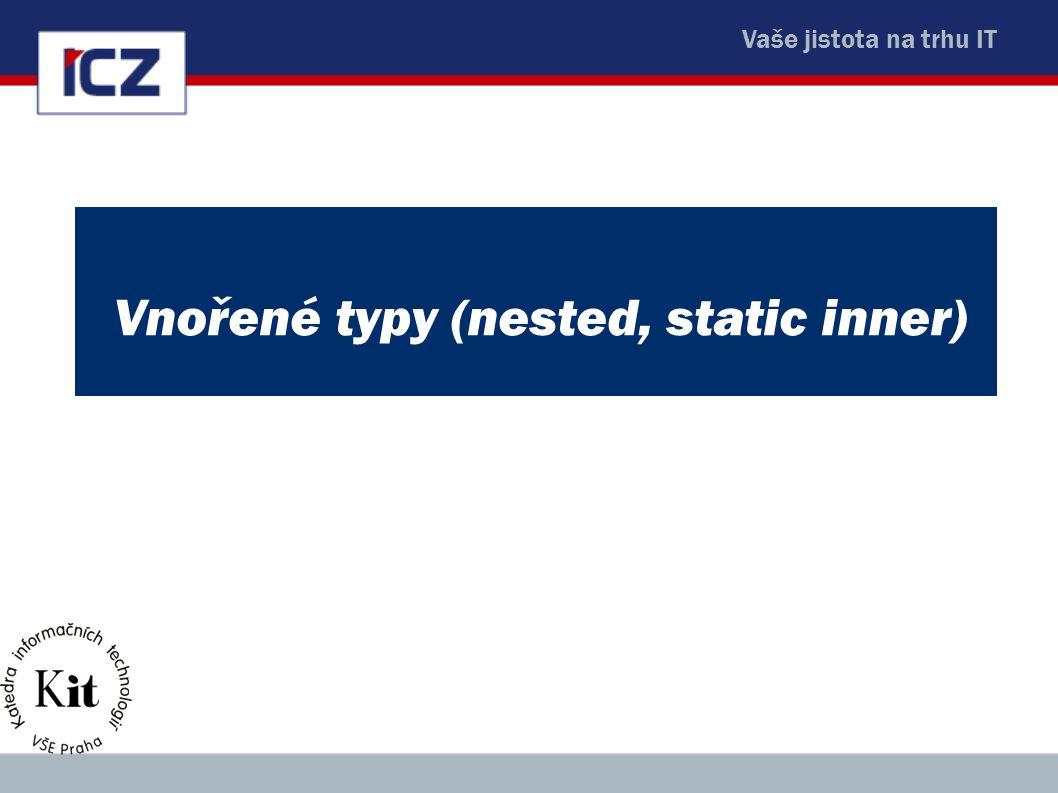Vnořené typy (nested, static inner)