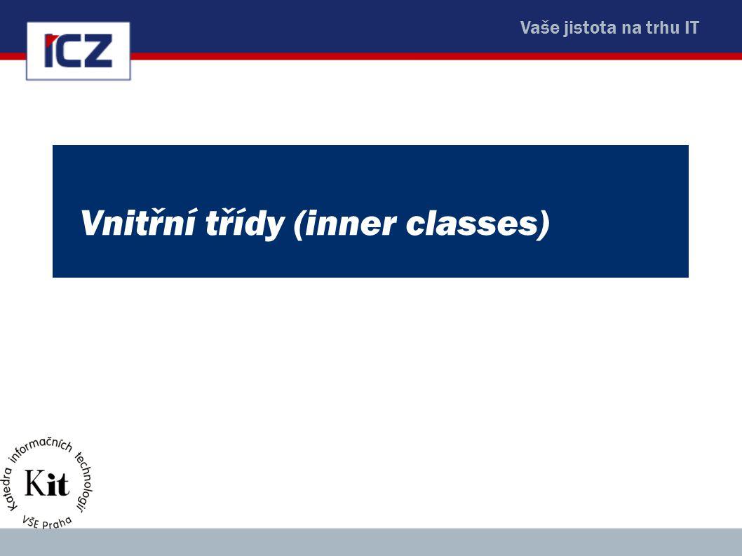 Vnitřní třídy (inner classes)