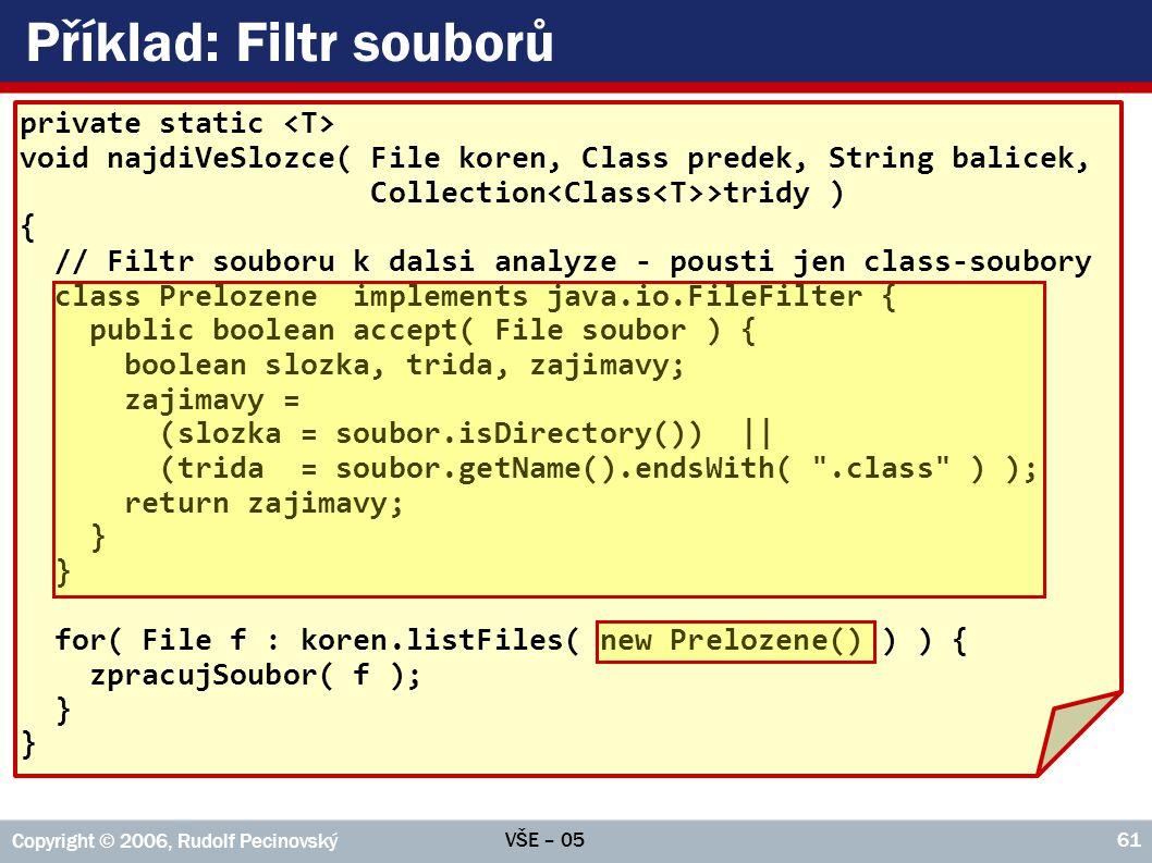 Příklad: Filtr souborů