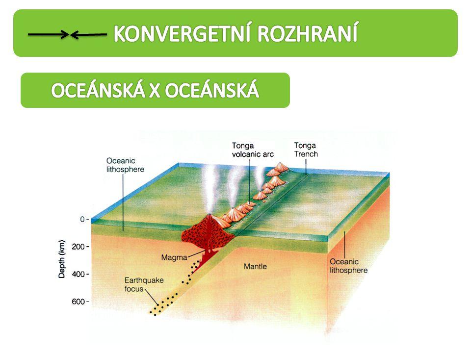 KONVERGETNÍ ROZHRANÍ OCEÁNSKÁ X OCEÁNSKÁ