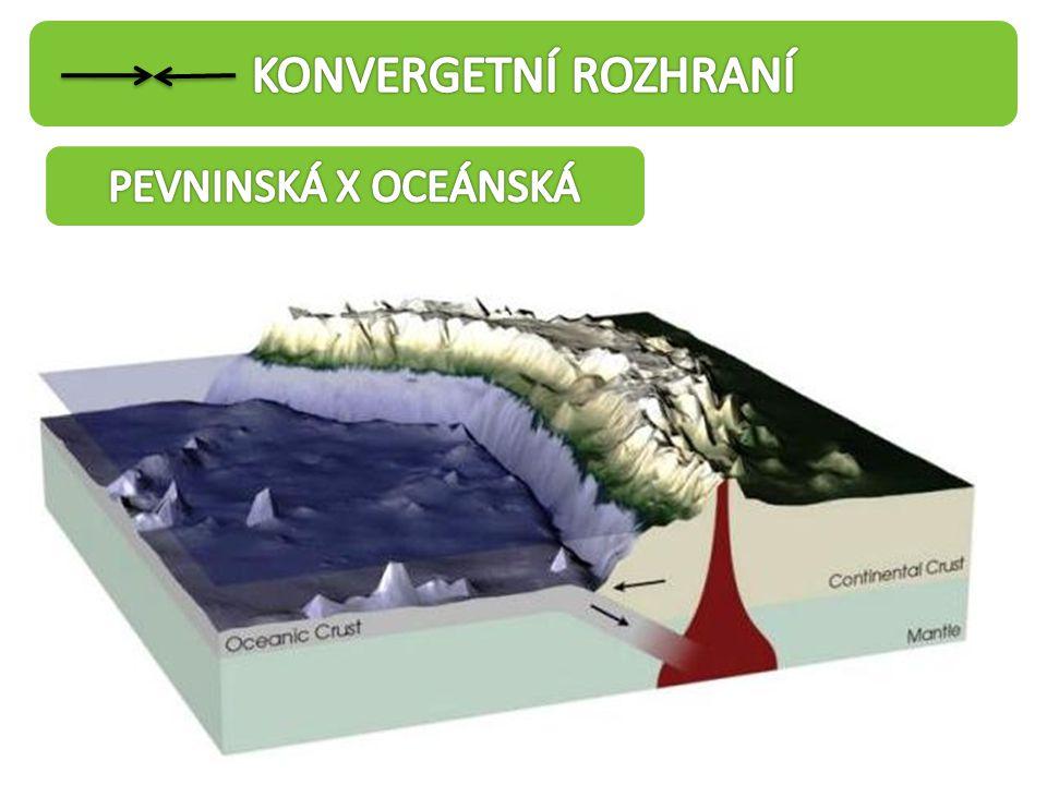 KONVERGETNÍ ROZHRANÍ PEVNINSKÁ X OCEÁNSKÁ