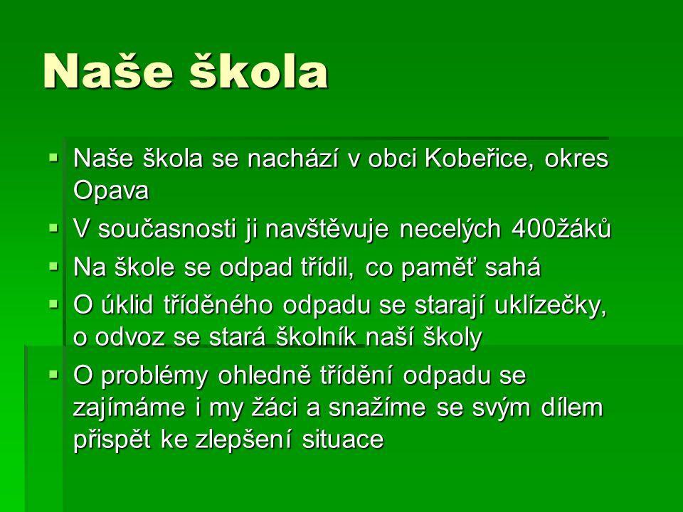 Naše škola Naše škola se nachází v obci Kobeřice, okres Opava