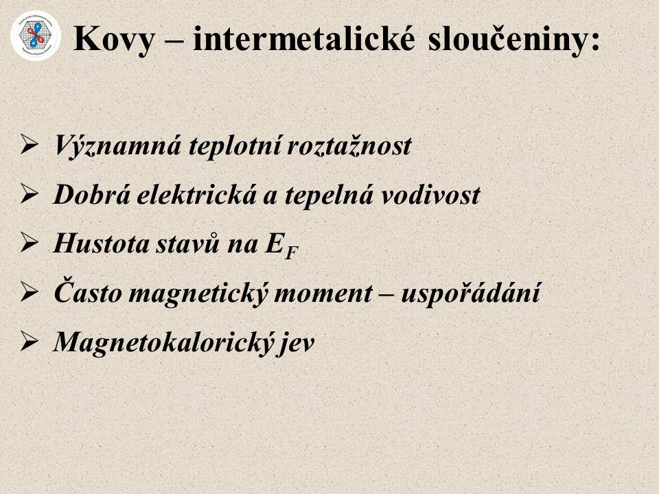 Kovy – intermetalické sloučeniny: